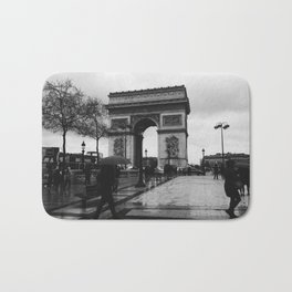 Rainy Afternoon on the Champs-Elysees Bath Mat