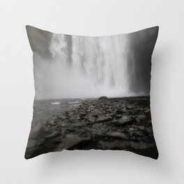 alone at the falls Throw Pillow
