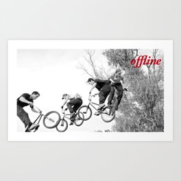 Offline I Art Print