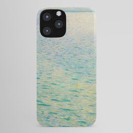 Island in the Attersee Gustav by Klimt Date 1902 // Abstract Oil Painting Water Horizon Scene iPhone Case