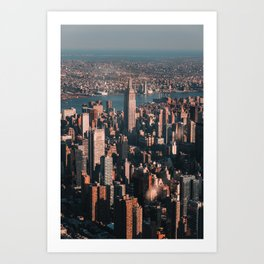 Empire State Building seen from a plane Art Print