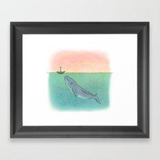 Gentle Whale  Framed Art Print