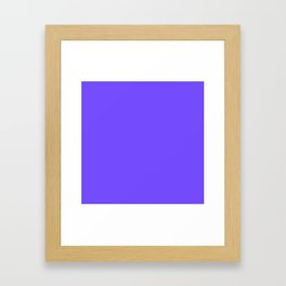 Periwinkle Orchid : Solid Color Framed Art Print