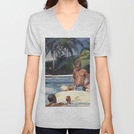 12,000pixel-500dpi - Winslow Homer1 - West India Divers - Digital Remastered Edition Unisex V-Neck