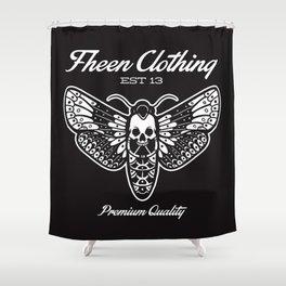 The fheen Moth  Shower Curtain