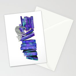 Literary Naps in Purple Stationery Cards