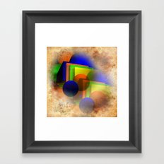forms and colors Framed Art Print