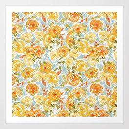 Winter Florals Art Print