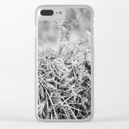 Spiked forest Clear iPhone Case