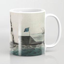 Monitor vs. Merrimac - Ironclad Civil War Battle Coffee Mug