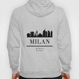 MILAN ITALY BLACK SILHOUETTE SKYLINE ART Hoody