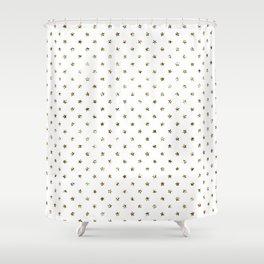Dainty Gold Stars Pattern Shower Curtain