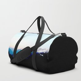 Mountain views abstracted to color blocks Duffle Bag