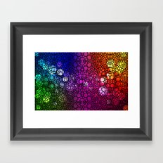 Stone Rock'd Rainbow - Art By Sharon Cummings Framed Art Print