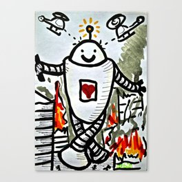 Happy Bot Canvas Print