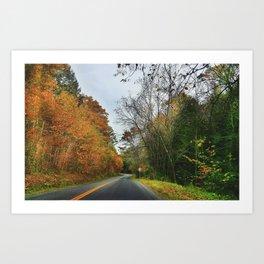 Fall Country Road Art Print