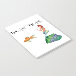 My Aunt Your Aunt Mermaid Goldfish Humor Family Notebook