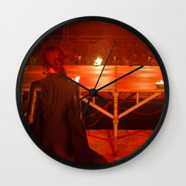 Dancer in black in the red Wall Clock