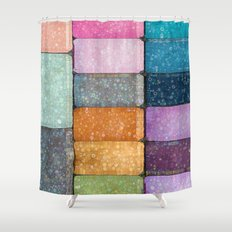 make-up colors Shower Curtain