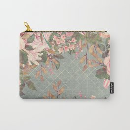 Vintage Garden (Misty Roses) Carry-All Pouch