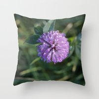 clover Throw Pillows featuring Clover by Bud M