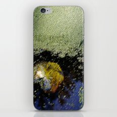 Yellow leaf in the water iPhone & iPod Skin