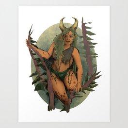 Ancient Forest Faerie Goddess Art Print