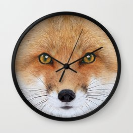 Fox Art Wall Clock
