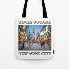 Times Square Sparkle (with typography) Tote Bag