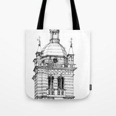Campanile della  cattedrale di Genova Tote Bag