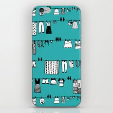 Laundry Doodle iPhone Skin