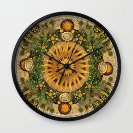 """""""Floral Aztec calendar"""" Wall Clock"""