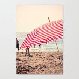 Summer Beach Umbrella Canvas Print
