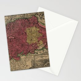 Map Of Bern 1638 Stationery Cards