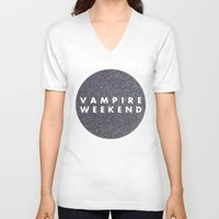 vampire weekend V-neck T-shirts featuring Vampire Weekend glitters logo by Elianne