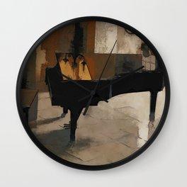 Grand Piano Artwork Wall Clock