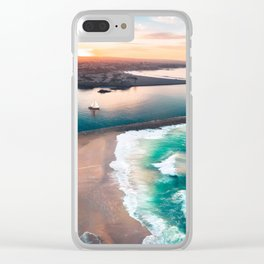 Sky view for the beach in the sunset Clear iPhone Case