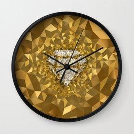 POLYNOID Diamond / Gold Edition Wall Clock
