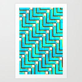 Pixel Repeat no.1 Art Print