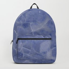 Marble Texture - Icy Blue Marble Backpack