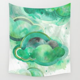 Emerald Clouds Wall Tapestry