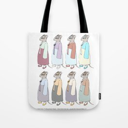 Nathalie Unseen: Mouse Queen color study Tote Bag