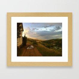Walk Home Framed Art Print