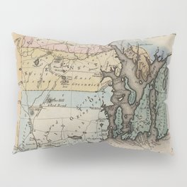 Vintage Map of Rhode Island (1823) Pillow Sham