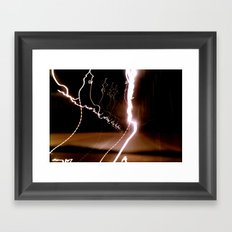 Midnight Light Show Framed Art Print
