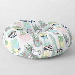 Cute Cacti in Pots Floor Pillow