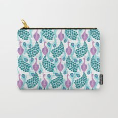 Peacock pattern cute bird nursery minimal home decor peacocks plume feathers Carry-All Pouch