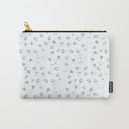 Floral Light Gray Blue Rose Petals Watercolor Print Carry-All Pouch