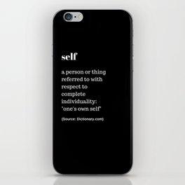 Self iPhone Skin