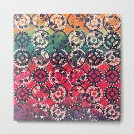 Grunge industrial pattern Metal Print